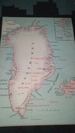AFFICHE CARTE GEOGRAPHIQUE - GROENLAND.....ISLANDE - Geographical Maps