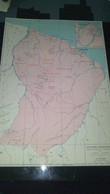 AFFICHE CARTE GEOGRAPHIQUE - Guyane Française Carte économique, Politique Et Touristique........ - Cartes Géographiques