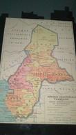 AFFICHE CARTE GEOGRAPHIQUE - AFRIQUE EQUATORIALE FRANCAISE Carte Administrative Et économique... - Geographical Maps