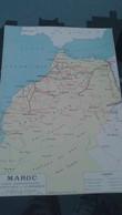 AFFICHE CARTE GEOGRAPHIQUE - MAROC Carte Administrative Touristique Et économique....... - Geographical Maps