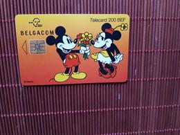 Phonecard Disney Mickey & Minnie Belgium Used Rare - Belgium