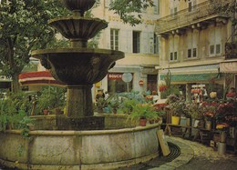 GRASSE LA PLACE DU COURS/ FLEURISTE, BOUCHERIE (dil394) - Grasse