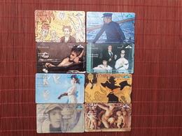 Set 8 Phonecards Art Cardex 97 With Rare  James Ensor Card Used - Belgium