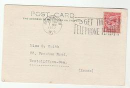 1933 Kensington COVER SLOGAN Get TELEPHONE HABIT  Gb Gv Stamps Telecom Card - Telecom