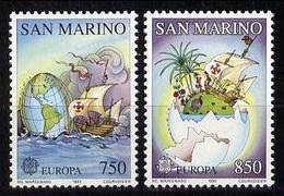 EUROPA-CEPT 1992 - San Marin - 2 Val Neufs // Mnh // Ch. Colomb - Europa-CEPT