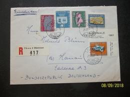 Helvetia: 1961 Rgt. Cover To Deutschland (#DG11) - Covers & Documents