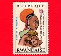 RWANDA  - Republique Rwandaise - Usato - 1973 - Pettinatura -  Coiffes Africanes - 20 C - Rwanda