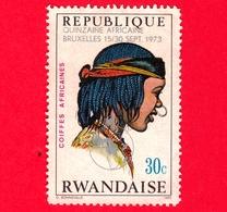 RWANDA  - Republique Rwandaise -  1973 - Pettinatura -  African Hair Styles And Headdresses - 30 C - Rwanda