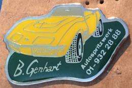 CORVETTE JAUNE - VOITURE - CAR - B.GENHART - AUTOSPRITZWERK - 01-932 28 88   - (19) - Corvette