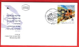 ISRAEL, 2003, Mint First Day Cover , Memorial Day,   Scan F3925 - Israel