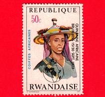RWANDA  - Republique Rwandaise -  1973 - Pettinatura -  African Hair Styles And Headdresses - 50 C - Rwanda