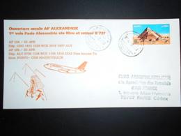 Egypte , Lettre D Alexandrie 1988 Pour Paris , Ouverture Escale Af Alexandrie - Poste Aérienne
