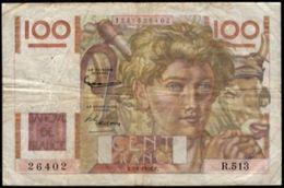 100 FRANCS JEUNE PAYSAN 2.1.1953 F:28/35 - 1871-1952 Anciens Francs Circulés Au XXème