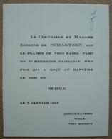 Faire-part Naissance Serge De Schaetzen. - Werm Hoeselt 1962. - Naissance & Baptême
