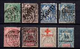 Tahiti Huit Timbres Anciens 1893/1903. Bonnes Valeurs. A Saisir! - Tahiti (1882-1915)