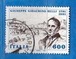 Italia ° - Anno 1991 - GIOACHINO BELLI. Unif. 1981.    Vedi Descrizione. - 6. 1946-.. Republik