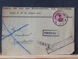 78/364A    FRAGMENT DE LETTRE  DE LA LOUVIERE  1927 POUR LE CONGO   REBUT + INCONNU - België