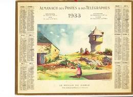 Almanach Des Postes Et Des Télégraphes 1933 - Calendars
