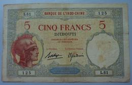 5 Francs 1936 Djibouti - Indochine