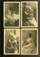 Beau Lot De 60 Cartes Postales De Fantaisie Pub Chocolat Au Verso   Mooi Lot 60 Postkaarten Van Fantasie -  60 Scans - Cartes Postales