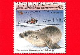 Territorio Antartico Australiano - AAT - Usato - 1988 - Protezione Dell'Ambiente - Foche - Crabeater Seal - 37 - Usati