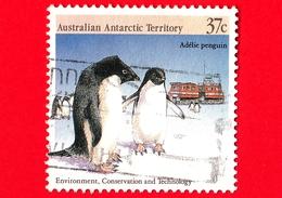 Territorio Antartico Australiano - AAT - Usato - 1988 - Protezione Dell'Ambiente - Pinguini  - Adelie Penguin - 37 - Territorio Antartico Australiano (AAT)