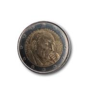 2 Euro Fauté Décentré - François Mitterrand - 2016 - Errores Y Curiosidades
