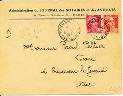 France Cover Sent To Oise Paris 19-10-1946 - Frankreich
