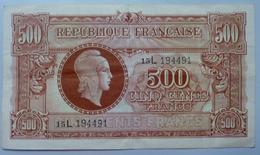 500 Francs 1945 L - Trésor