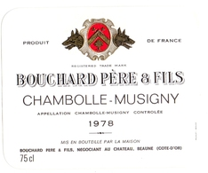 Etiket Etiquette - Vin - Wijn - Chambolle Musigny - Bouchard Père & Fils - Beaune 1978 - Bourgogne