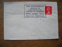 1970 30e Arrivée Des Forces Tchécoslovaques à Cheshire Angleterre  30th Anniversary Arrival Czechoslovak Forces - Marcophilie