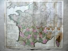 Carte De La France Divisée En 103 Departements Poircon 1802 Carta Geografia - Altre Collezioni