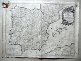Carta Les Royaumes D'Espagne Et De Portugal F. Santini Remondini Venise 1776-84 - Altri