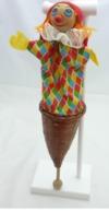 Jeux Et Jouet.marotte.clown.tissu, Feutrine.46 Cm - Andere Verzamelingen