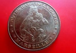 Vierge à L'enfant-Notre Dame De La Garde 2009 Marseille Jeton Touristique-Monnaie De Paris- Jeton & Médaille France - Monnaie De Paris