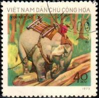 "Vietnam–Nord 1974 ""Working Elephants""1v (incompl) Quality:100% - Vietnam"