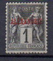 ALEXANDRIE  ( POSTE  ) : Y&T N°  1  TIMBRE  NEUF  AVEC  TRACE  DE  CHARNIERE  . - Alexandrie (1899-1931)