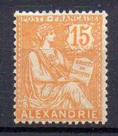 ALEXANDRIE  ( POSTE ) : Y&T N°  25  TIMBRE  NEUF  AVEC  TRACE  DE  CHARNIERE  . - Neufs
