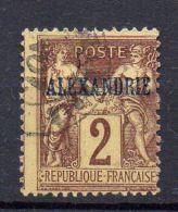 ALEXANDRIE  ( POSTE  ) : Y&T N°  2  TIMBRE  TRES  BIEN  OBLITERE  . - Alexandrie (1899-1931)