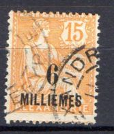 COLONIES ( ALEXANDRIE ) : Y&T N°  53  TIMBRE  TRES  BIEN  OBLITERE  . - Oblitérés