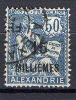 COLONIES ( ALEXANDRIE ) : Y&T N°  62  TIMBRE  TRES  BIEN  OBLITERE  . - Oblitérés