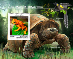 CENTRAL AFRICA 2018 - Moho Bishopi, Extinct Sp. S/S Official Issue - Songbirds & Tree Dwellers