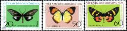 "Vietnam–Nord 1976 ""Butterflies"" 3v (incomplete) Quality:100% - Vietnam"