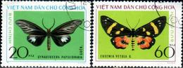 "Vietnam–Nord 1976 ""Butterflies"" 2v (incomplete) Quality:100% - Vietnam"