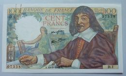 100 Francs Descartes 15.05.1942 - 1871-1952 Anciens Francs Circulés Au XXème