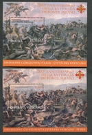 VATICANO ITALIA 2012 - FOGLIETTI ANNIVERSARIO DELLA BATTAGLIA DI PONTE MILVIO - CONGIUNTA VATICANO/ITALIA - MNH** - Unused Stamps
