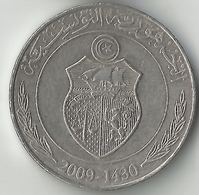 Tunisia,1 Dinar 2009-1430 - Tunisia