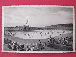 Angleterre - Weston Super Mare - The Bathing Pool - 1961 - Scans Recto-verso - Weston-Super-Mare