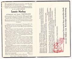 DP Leonie Markey ° Pervijze Diksmuide 1876 † Brugge 1952 X J. Thevelein / Bustraan VanHeste Keirschieter Deman Denys - Images Religieuses