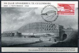 "Niederlande 1968 Maximumkarte Brücke Von Culemborg Mi.Nr.896 MC ""100 Jaar Spoorbrug Culemborg""1 MC - Brücken"